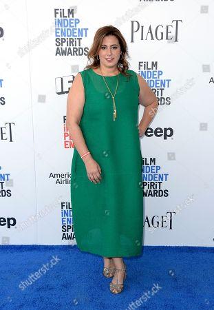 Stock Photo of Jordana Mollick arrives at the Film Independent Spirit Awards, in Santa Monica, Calif