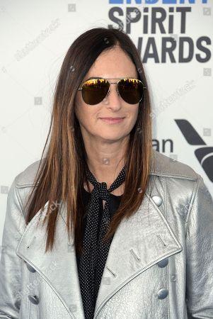 Carla Hacken arrives at the Film Independent Spirit Awards, in Santa Monica, Calif
