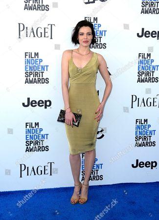 Alizee Gaillard arrives at the Film Independent Spirit Awards, in Santa Monica, Calif