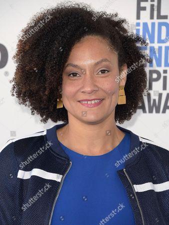 Kira Kelly arrives at the Film Independent Spirit Awards, in Santa Monica, Calif