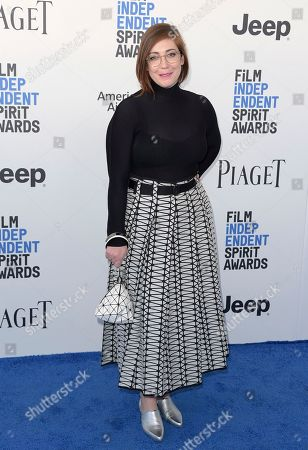 Stock Photo of Anna Rose Holmer arrives at the Film Independent Spirit Awards, in Santa Monica, Calif