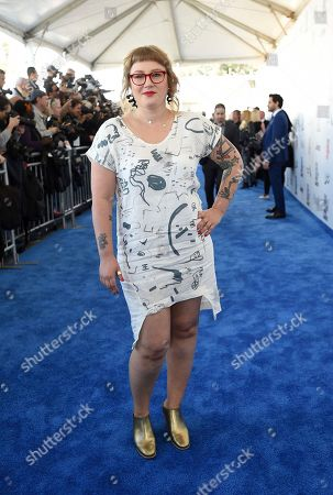 Mel Eslyn arrives at the Film Independent Spirit Awards, in Santa Monica, Calif