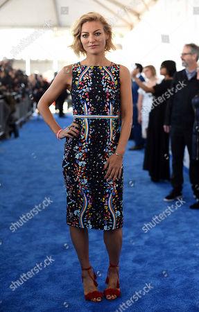 Lucy Walker arrives at the Film Independent Spirit Awards, in Santa Monica, Calif