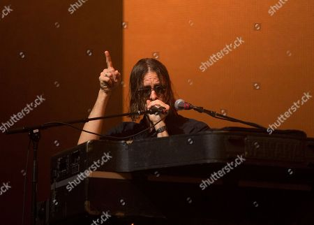 Stock Picture of Andrew Wyatt of the band Miike Snow performs on Day 2 of the 2017 Firefly Music Festival at The Woodlands, in Dover, Del