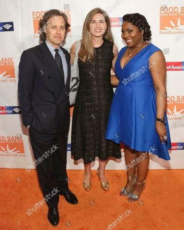 David Lauren, from left, Lauren Bush and President/CEO of Food Bank for NYC Margarette Purvis attend the Food Bank for New York City Can-Do Awards at Cipriani Wall Street, in New York