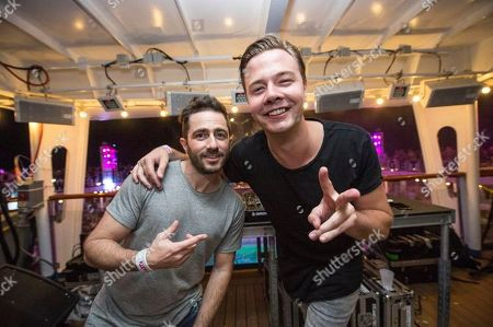 Sam Feldt performs on board the Carnival Victory during day 1 of the Groove Cruise cruise on in Miami