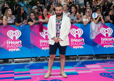 Coleman Hell arrives at the iHeartRadio Much Music Video Awards, in Toronto, Canada