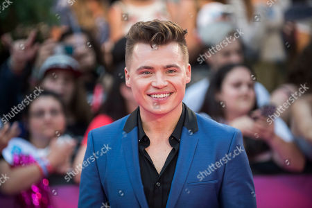 Shawn Hook arrives at the iHeartRadio Much Music Video Awards, in Toronto, Canada
