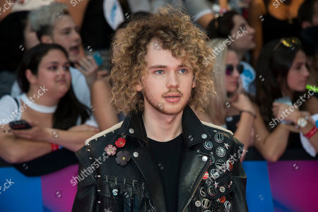 Francesco Yates arrives at the iHeartRadio Much Music Video Awards, in Toronto, Canada