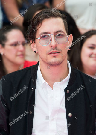 Shaun Frank arrives at the iHeartRadio Much Music Video Awards, in Toronto, Canada