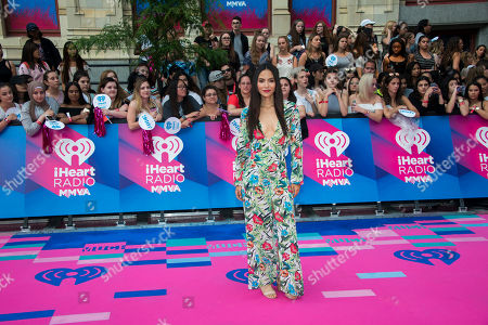 Stock Image of Jessica Matten arrives at the iHeartRadio Much Music Video Awards, in Toronto, Canada