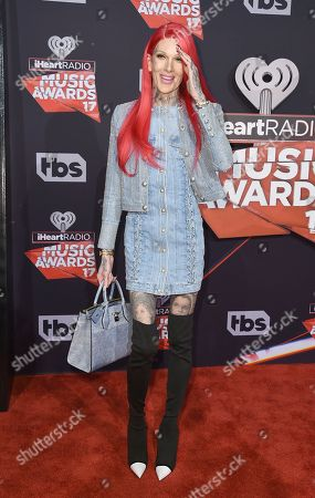 Jeffree Star arrives at the iHeartRadio Music Awards at the Forum, in Inglewood, Calif