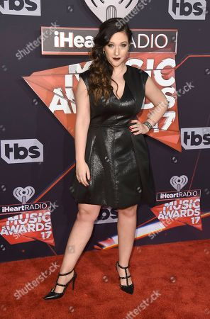 Gianna Martello arrives at the iHeartRadio Music Awards at the Forum, in Inglewood, Calif