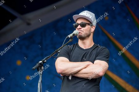 Amos Lee performs at the New Orleans Jazz and Heritage Festival, in New Orleans
