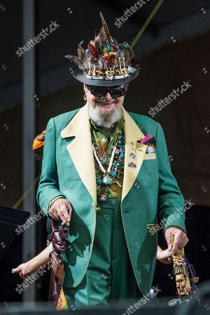 Dr John  performs at the New Orleans Jazz and Heritage Festival, in New Orleans