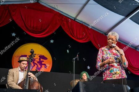 Germaine Bazzle performs at the New Orleans Jazz and Heritage Festival, in New Orleans