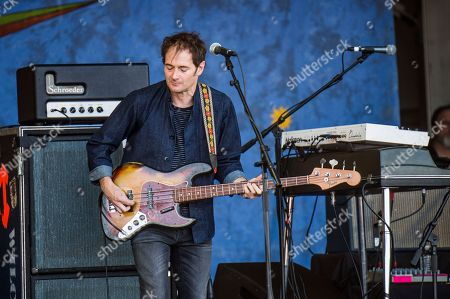 John Stirratt of Wilco performs at the New Orleans Jazz and Heritage Festival, in New Orleans