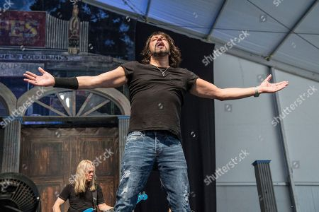 Noah Hunt performs at the New Orleans Jazz and Heritage Festival, in New Orleans