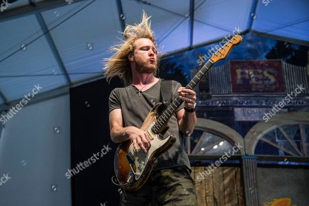Kenny Wayne Shepherd performs at the New Orleans Jazz and Heritage Festival, in New Orleans