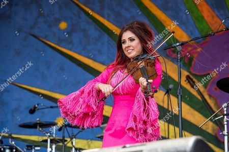 Amanda Shaw performs at the New Orleans Jazz and Heritage Festival, in New Orleans