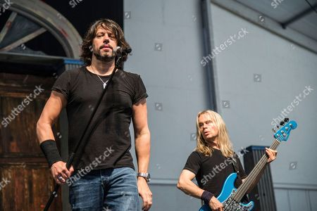 Stock Photo of Noah Hunt performs at the New Orleans Jazz and Heritage Festival, in New Orleans