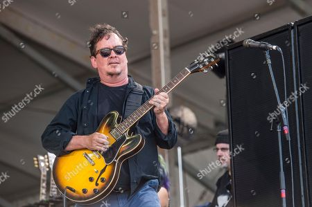 Jeff Raines of Galactic performs at the New Orleans Jazz and Heritage Festival, in New Orleans