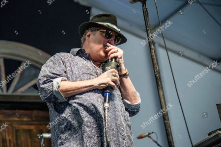 John Popper of Blues Traveler performs at the New Orleans Jazz and Heritage Festival, in New Orleans