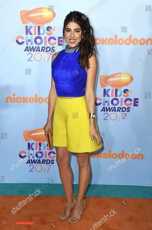 Daniella Monet arrives at the Kids' Choice Awards at the Galen Center, in Los Angeles