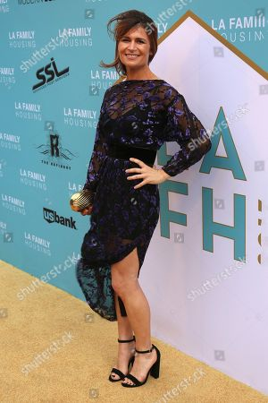 Carrie Lazar arrives at the 2017 LA Family Housing Awards at The Lot, in West Hollywood, Calif