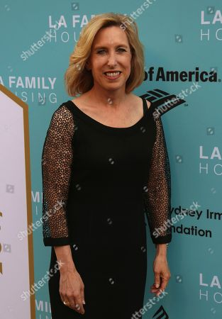 Stock Photo of Wendy Greuel arrives at the 2017 LA Family Housing Awards at The Lot, in West Hollywood, Calif