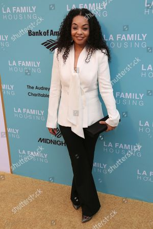 Kimberly Woodruff arrives at the 2017 LA Family Housing Awards at The Lot, in West Hollywood, Calif