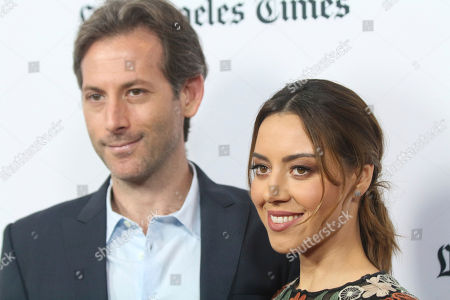 "Aubrey Plaza, right, and Jeff Baena arrive at the premiere of ""The Little Hours"" at the 2017 Los Angeles Film Festival, in Culver City, Calif"