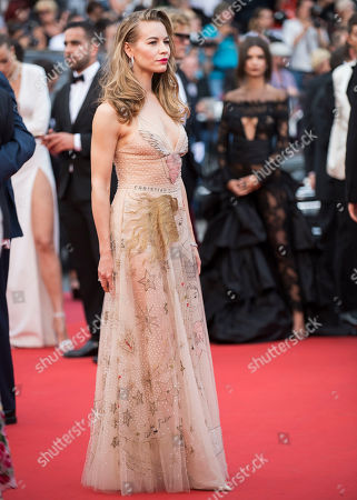 Stock Image of Svetlana Ustinova poses for photographers upon arrival at the screening of the film Loveless at the 70th international film festival, Cannes, southern France
