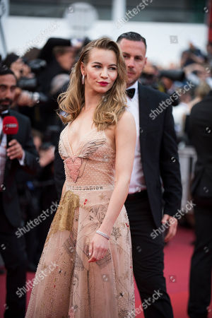 Stock Picture of Svetlana Ustinova poses for photographers upon arrival at the screening of the film Loveless at the 70th international film festival, Cannes, southern France