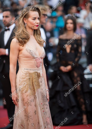 Svetlana Ustinova poses for photographers upon arrival at the screening of the film Loveless at the 70th international film festival, Cannes, southern France