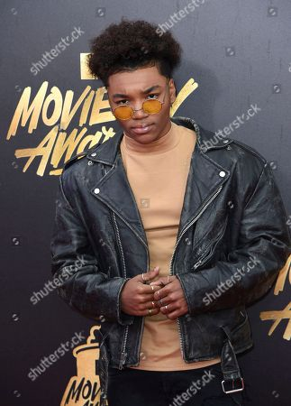 Josh Levi arrives at the MTV Movie and TV Awards at the Shrine Auditorium, in Los Angeles