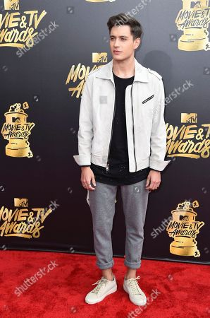 Gabriel Conte arrives at the MTV Movie and TV Awards at the Shrine Auditorium, in Los Angeles