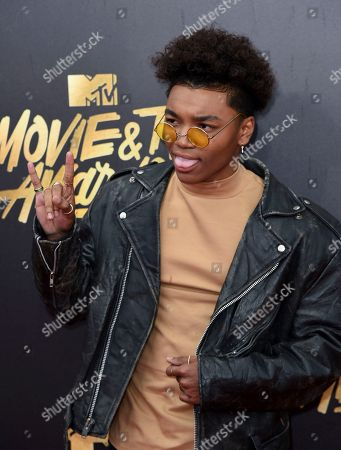 Stock Picture of Josh Levi arrives at the MTV Movie and TV Awards at the Shrine Auditorium, in Los Angeles