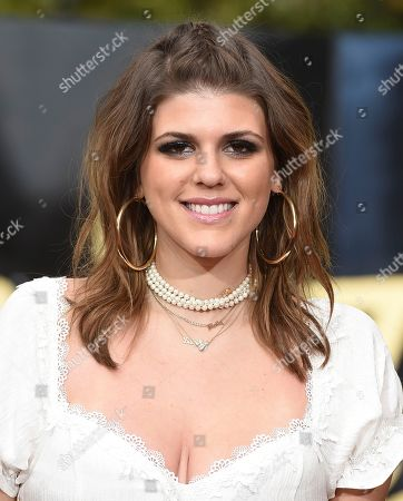 Stock Image of Molly Tarlov arrives at the MTV Movie and TV Awards at the Shrine Auditorium, in Los Angeles