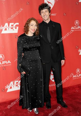 Regina Spektor, left, and Jack Dishel arrive at the MusiCares Person of the Year tribute honoring Tom Petty at the Los Angeles Convention Center on
