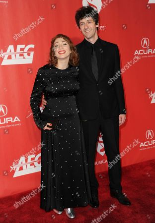 Stock Picture of Regina Spektor, left, and Jack Dishel arrive at the MusiCares Person of the Year tribute honoring Tom Petty at the Los Angeles Convention Center on