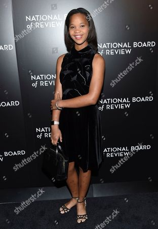 Quvenzhane Wallis arrives at the National Board of Review Gala at Cipriani 42nd Street, in New York
