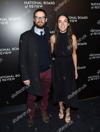 Clay Tweel, left, and Michel Varisco attend the National Board of Review Gala at Cipriani 42nd Street, in New York
