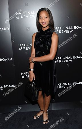 Stock Picture of Actress Quvenzhane Wallis attends the National Board of Review Gala at Cipriani 42nd Street, in New York