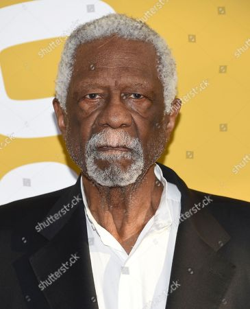 Bill Russell arrives at the NBA Awards at Basketball City at Pier 36, in New York