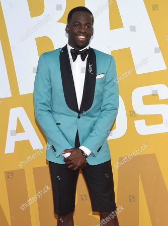 NBA player Draymond Green, of the Golden State Warriors, arrives at the NBA Awards at Basketball City at Pier 36, in New York