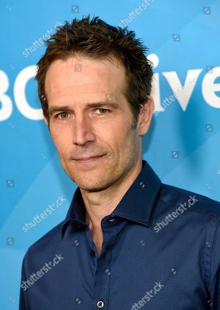 """Michael Vartan, a cast member in """"The Arrangement,"""" poses at the 2017 NBCUniversal Summer Press Day at the Beverly Hilton, in Beverly Hills, Calif"""