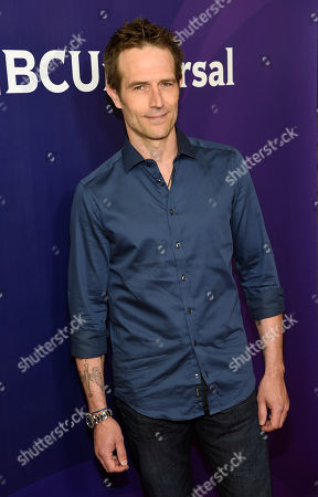 """Stock Picture of Michael Vartan, a cast member in """"The Arrangement,"""" poses at the 2017 NBCUniversal Summer Press Day at the Beverly Hilton, in Beverly Hills, Calif"""