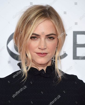 Emily Wickersham arrives at the People's Choice Awards at the Microsoft Theater, in Los Angeles