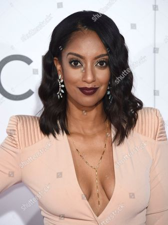 Azie Tesfai arrives at the People's Choice Awards at the Microsoft Theater, in Los Angeles